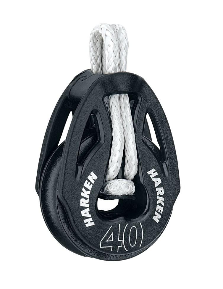 Harken block linfäste inkl loop 40/10mm