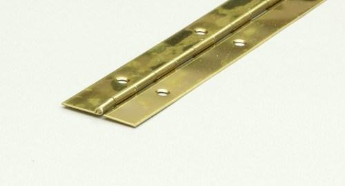 Pianogångjärn mässing 32mm L=1m