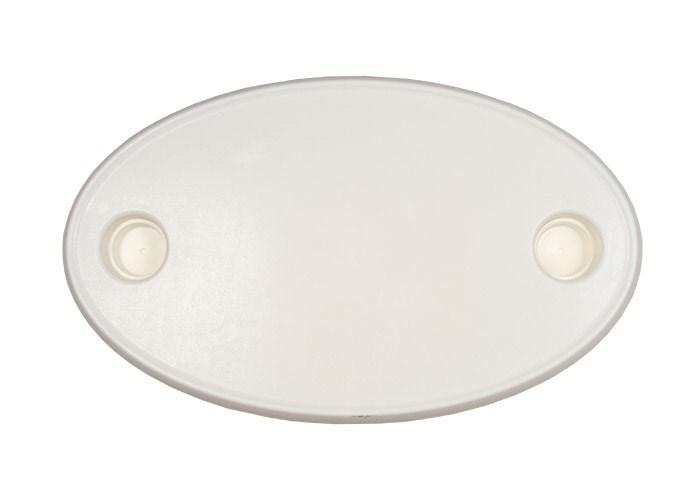 Bordsskiva plast oval 76x45cm