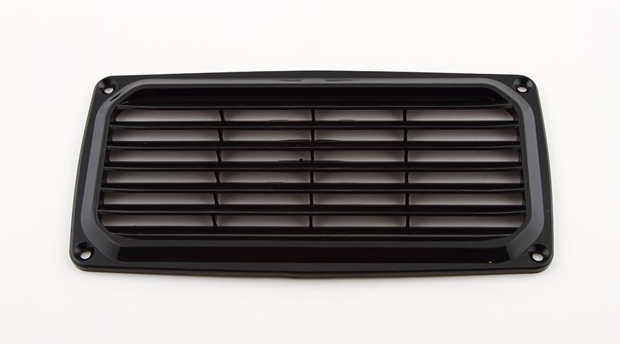 Ventilgaller svart 200x100mm