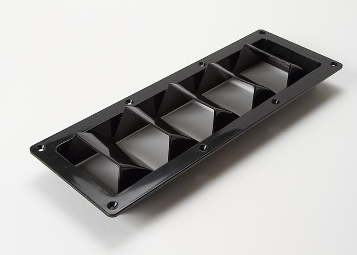 Ventil 5 gälar svart plast 300mm