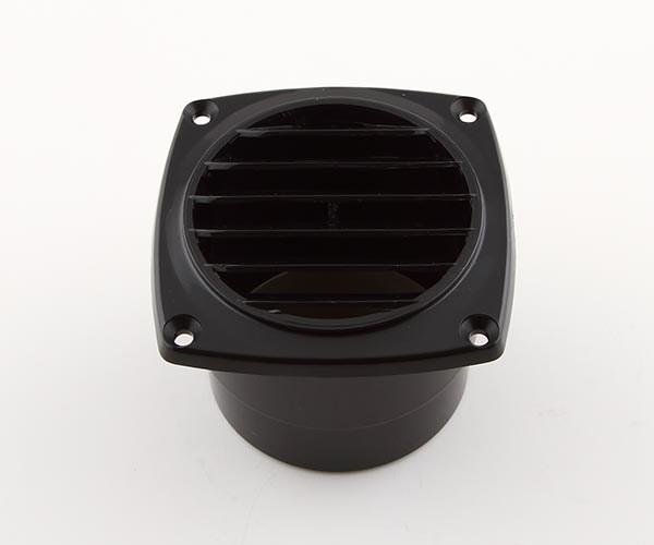 Ventilgaller plast svart 92x92mm