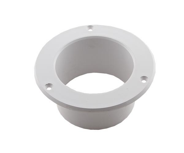 Fläns plast vit slang 75mm