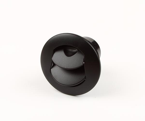Inblåsningsventil 50mm svart