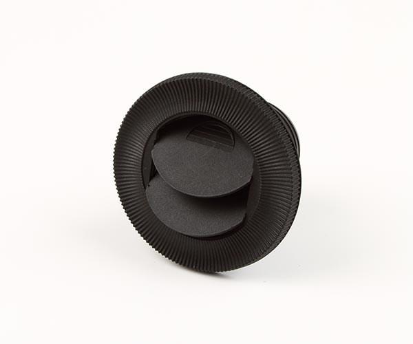 Inblåsningsventil 55mm svart
