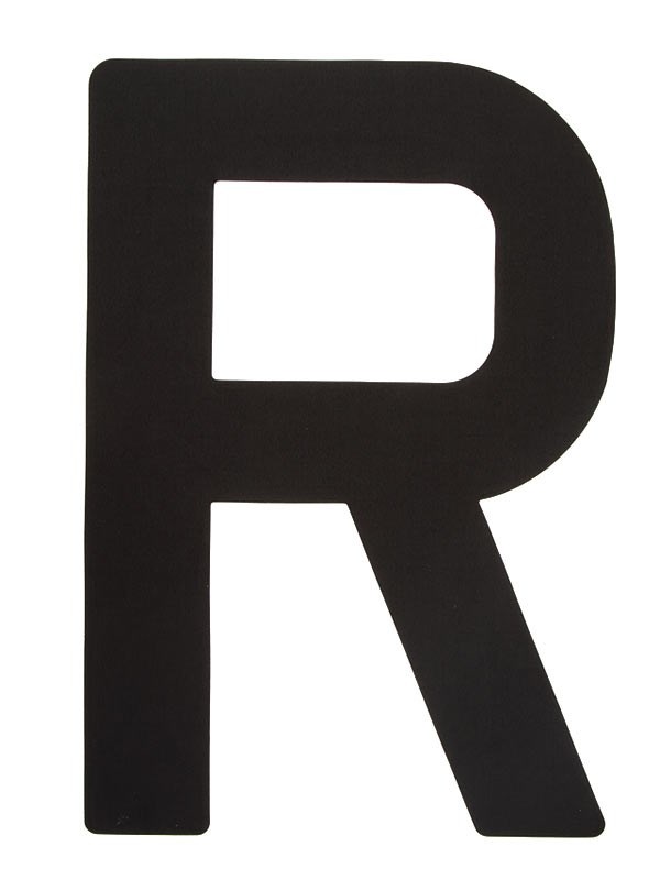 Segelsiffra R, 38cm