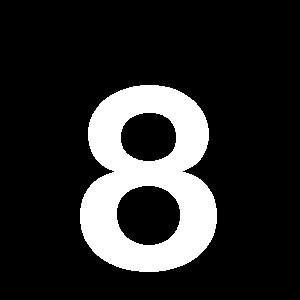 Reg-siffra 8 45mm Vit