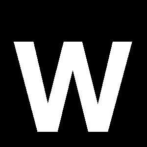 Reg-bokstav W 45mm Vit