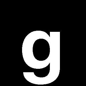 Reg-bokstav g 90mm Vit