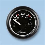 Temperaturmätare Wema 40-120° svart