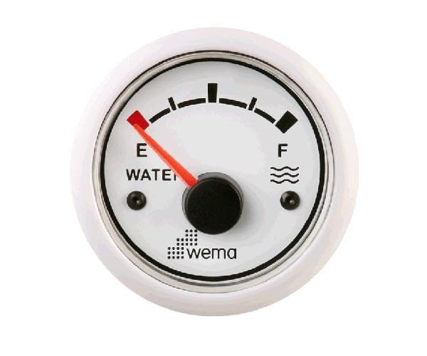 Vattentanksmätare Wema Vit