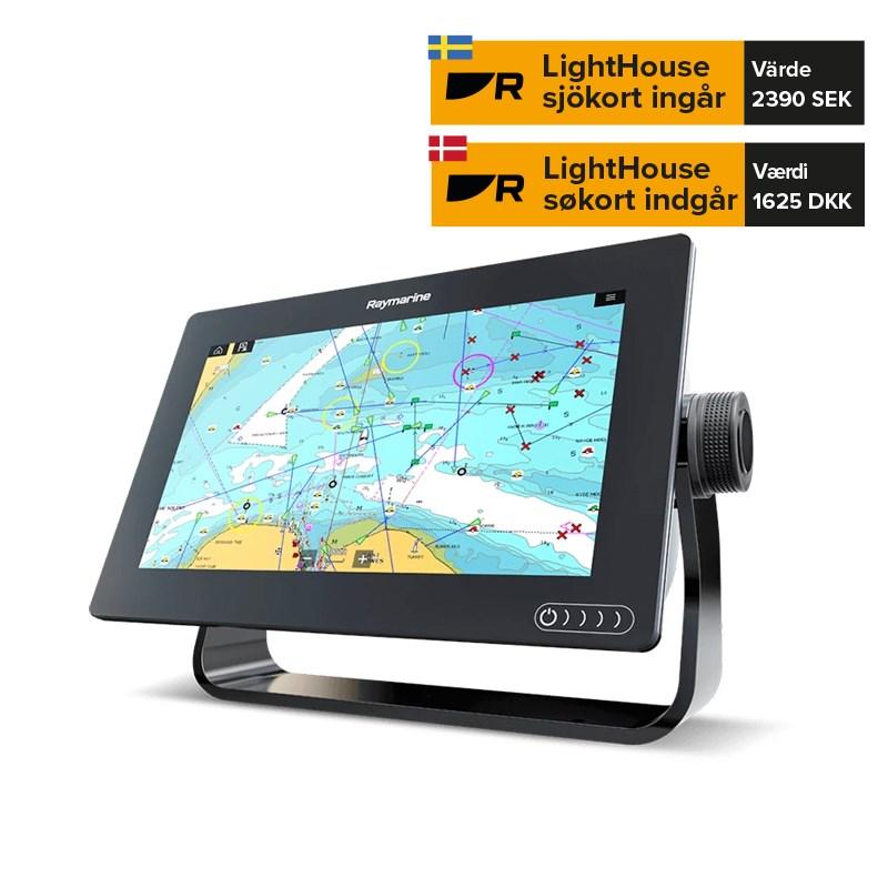 Raymarine Axiom 7tum DV Plotter/Ekolod inkl CPT-100DVS givare