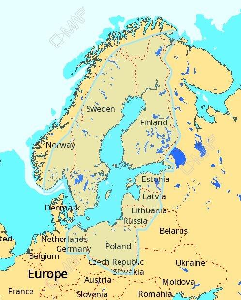 C-MAP MAX-N+ Baltic sea, EN-Y055