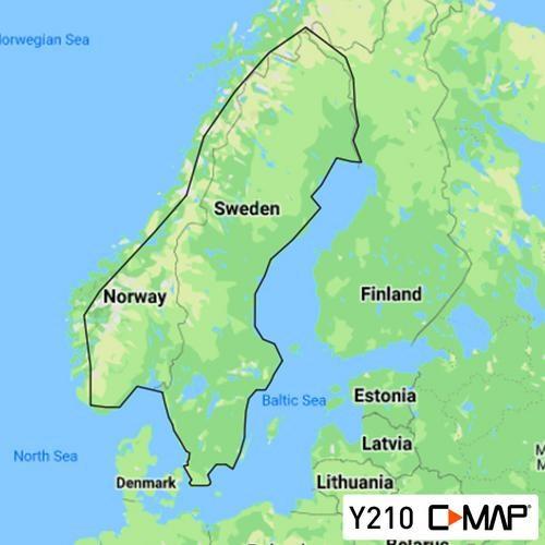 C-Map Discover Y210 Insjöar