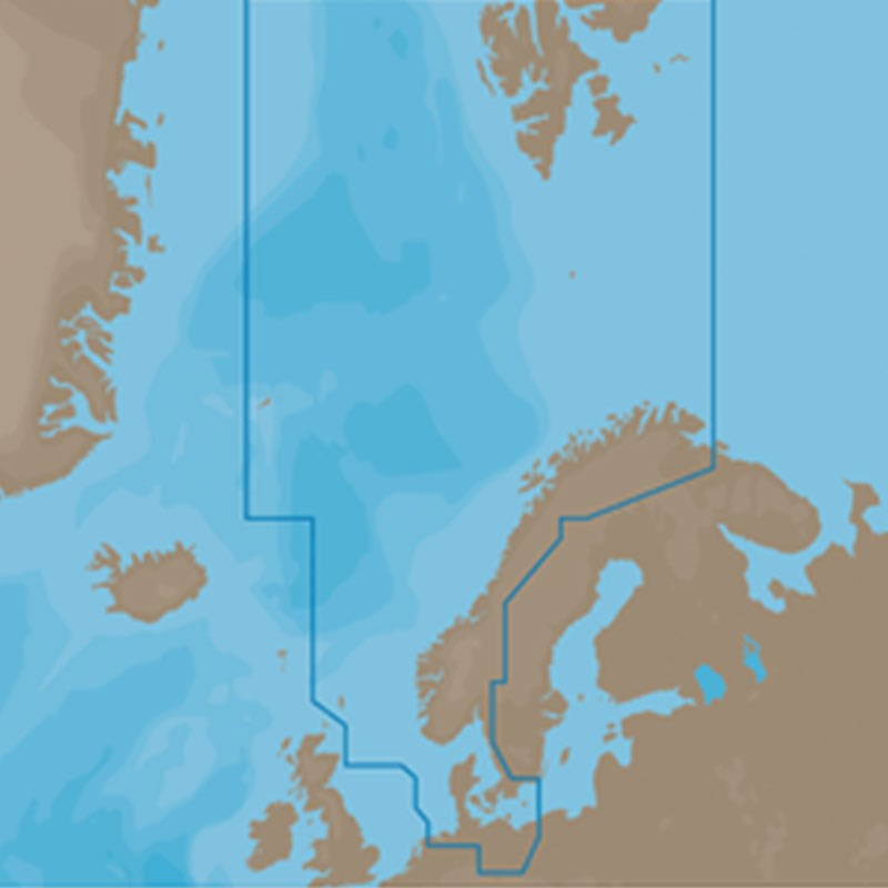 C-MAP MAX-N+ W: North sea & Danmark, EN-Y300