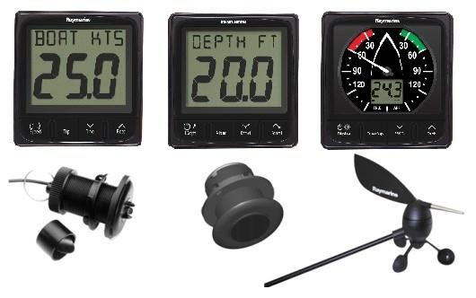 Raymarine i50 & i60 3x instrument + givarpaket