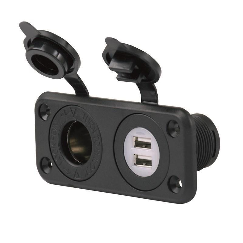 Marinco Eluttag Dubbelt 12V/USB