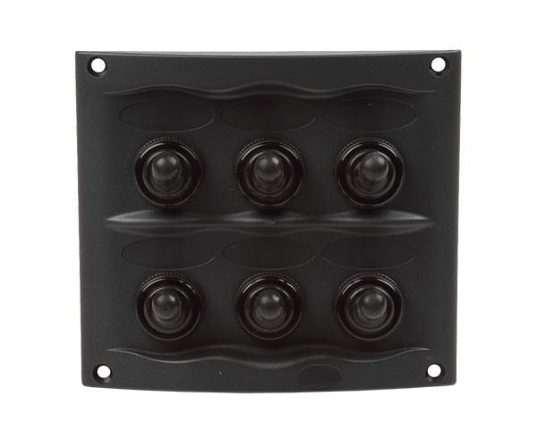 El-panel 107x95mm 6st brytare