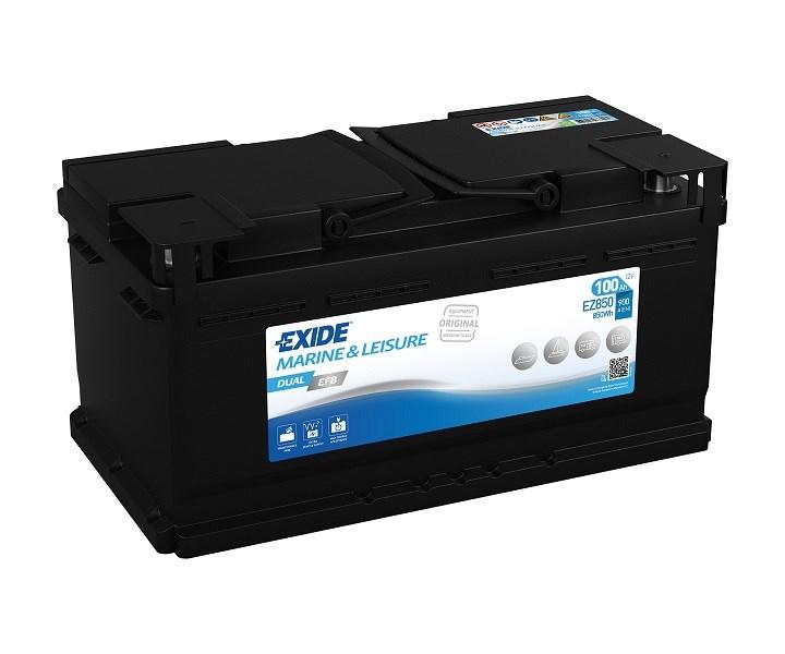Batteri Tudor Exide Dual EFB 100Ah