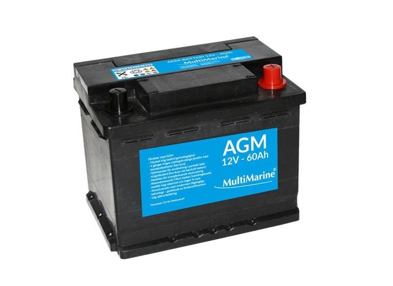 Multimarine AGM-batteri 60Ah 12V