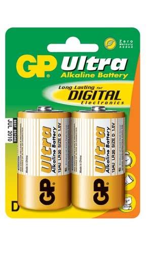 Batteri LR20/D 2-pack