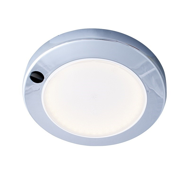 Båtsystem Saturn krom LED/2485