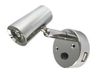 Nautilight LED kabinlampa med USB-uttag 2A