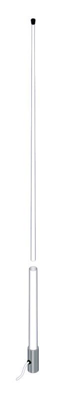 VHF-antenn motorbåt 2,4m Vit