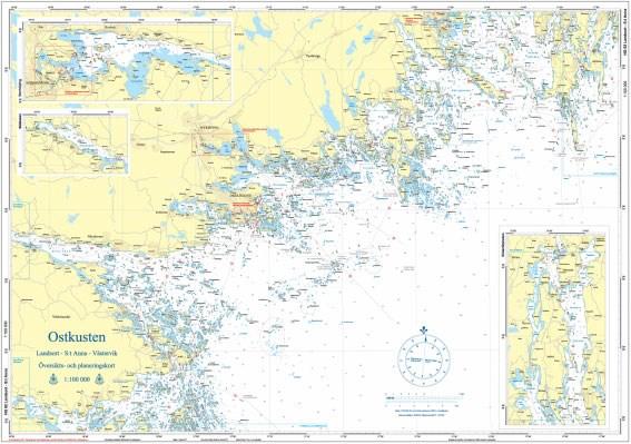 Hydrographica Översiktskort Ostkusten