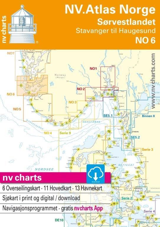 NO 6 NV.Atlas Norge Sørvestlandet Nord - Stavanger till Haugesund