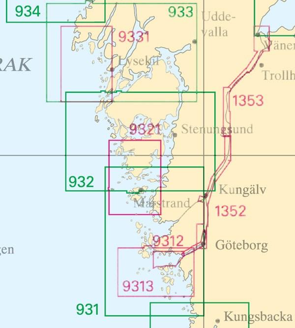 Sjökort nr 1353