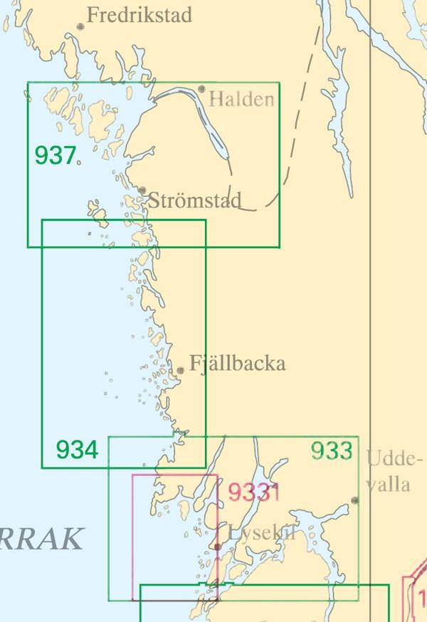 Sjökort nr 933