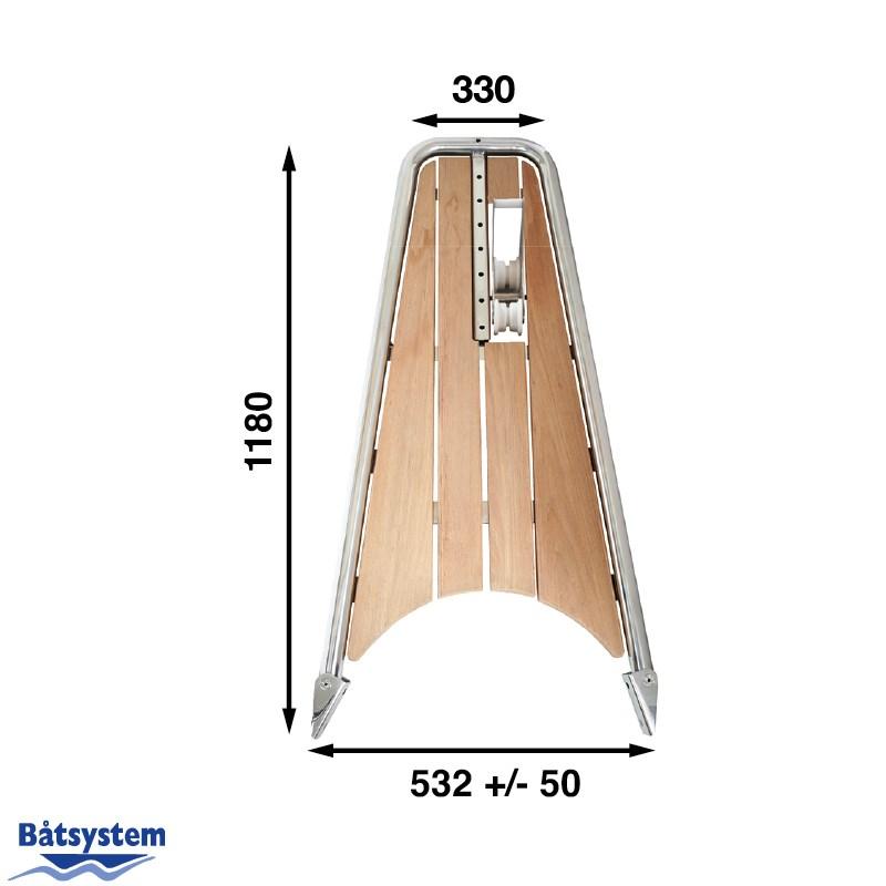 Båtsystem Gennakerpeke med ankarrulle PB120/1484