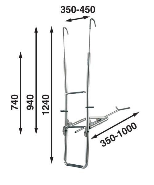 Båtsystem stävstege för peke ST130/1232