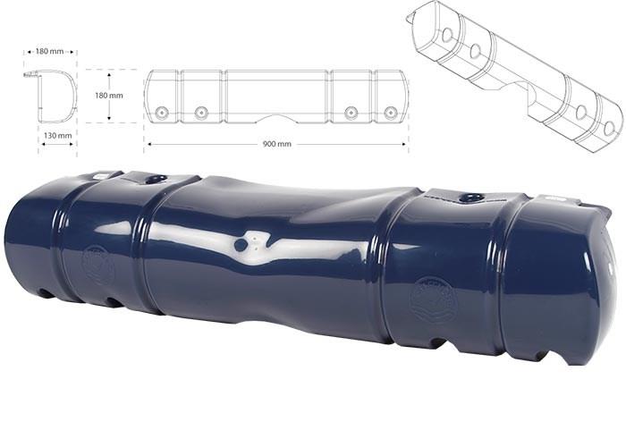 Bryggfender blå 90x18cm