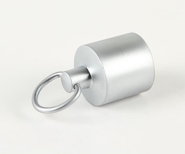 Ändbeslag med ring 36mm mattkrom