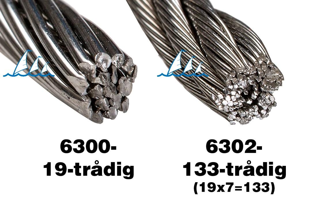 Wire rostfri 133-trådig 5mm