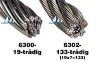 Wire rostfri 133-trådig 6mm