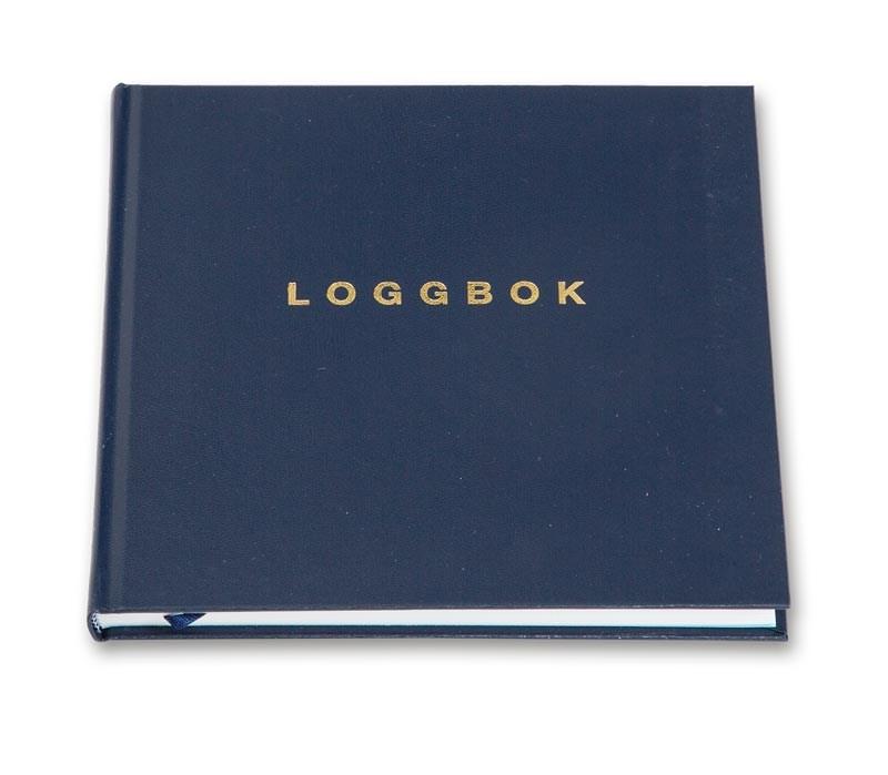 Loggbok Blå