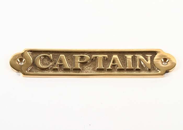 Mässingskylt Captain