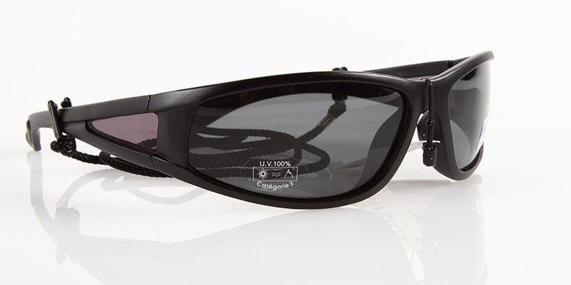 Solglasögon Svarta, UV400, Rökfärgat glas
