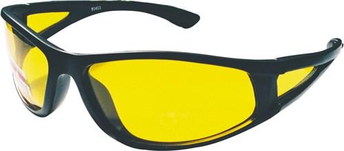 Solglasögon Svarta, UV400, Gult glas