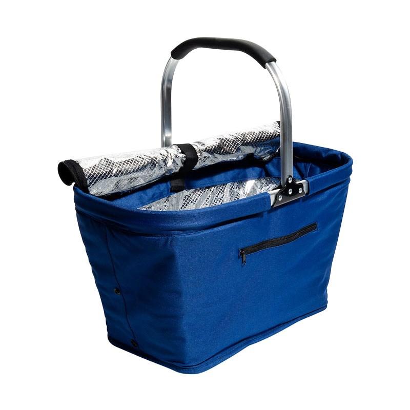 Picknick- och kylkorg, vikbar, marinblå