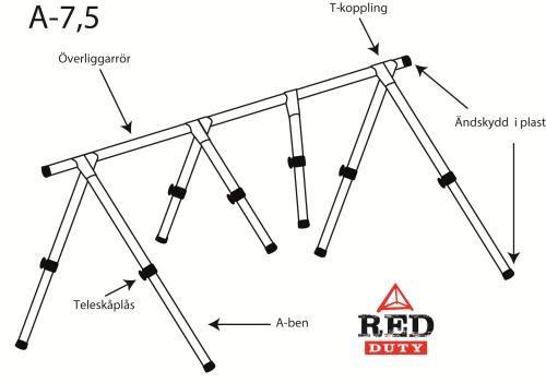 Red Duty A-ställning 7,5m