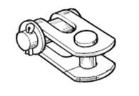 Selden Gaffel/gaffeltoggle till 5mm stag