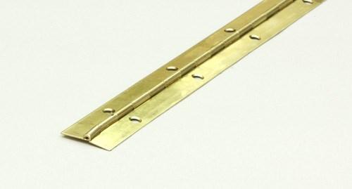 Pianogångjärn mässing 25mm L=1m