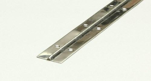 Pianogångjärn rostfri 25mm - L=1m