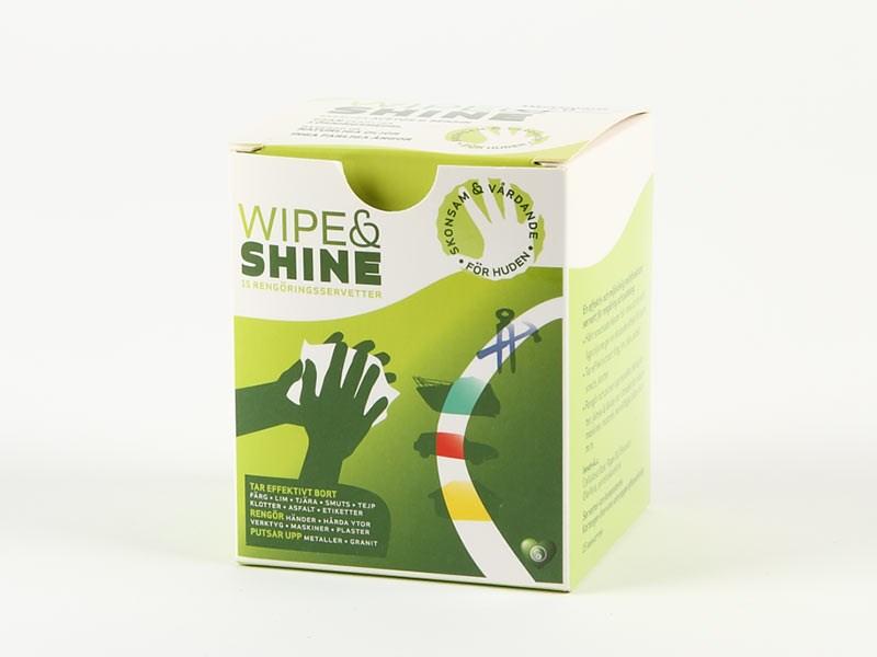 Wipe & Shine rengöringsservett 15st