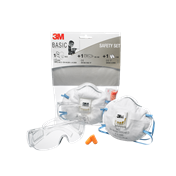 3M Skyddskit (mask,glasögon,hörselskydd)