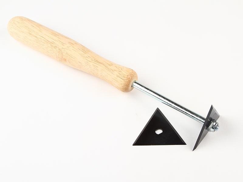 Färgskrapa trekant